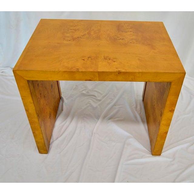1960s Mid Century Modern Olive Burlwood Side Table For Sale In San Antonio - Image 6 of 8