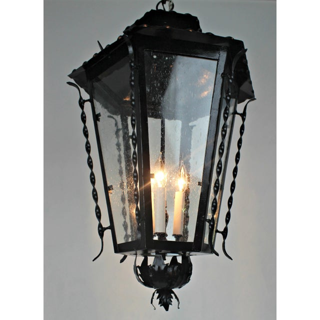 Vintage Handmade Iron Lantern For Sale - Image 4 of 8
