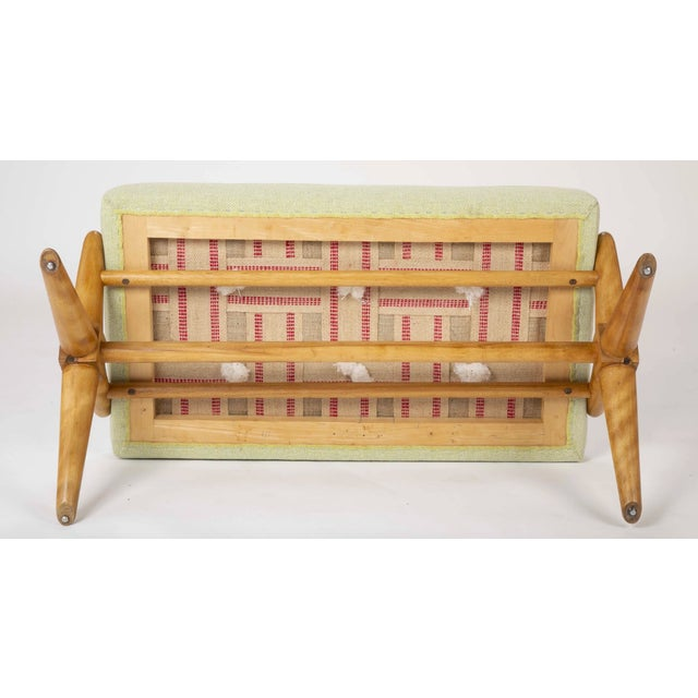Mid 20th Century 1950's t.h. Robsjohn-Gibbings Bleached Walnut X-Form Bench-a Pair For Sale - Image 5 of 6