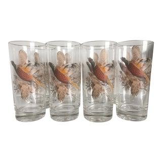 Pheasant Barware Glasses - Set of 8