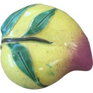 Antique Porcelain Peach Altar Fruit
