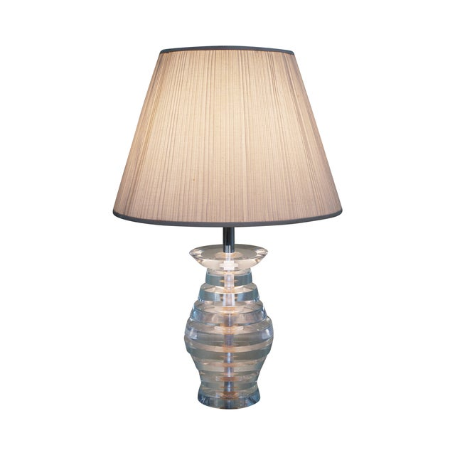 Mid-Century Modern Lucite Lamp by George Bullio For Sale