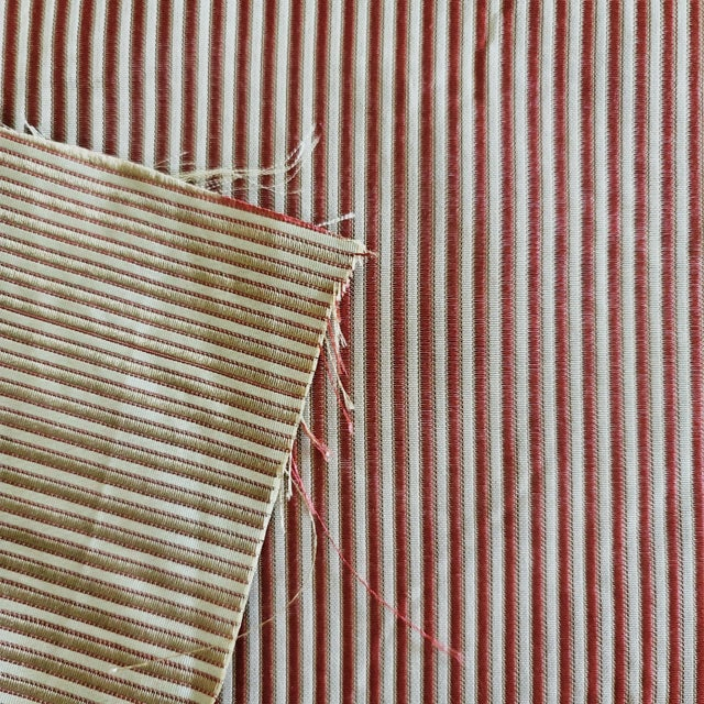 American Holland & Sherry Chopard Stripe Silk Designer Fabric by the Yard For Sale - Image 3 of 3