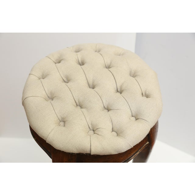 Country French Pedestal Stool - Image 3 of 4