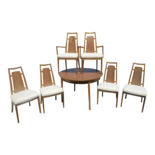 Mid-Century Modern 1960's Drexel Meridian Danish Dining Set For Sale