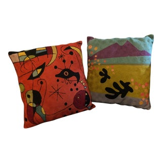 Modern Miro Inspired Pillows- A Pair For Sale