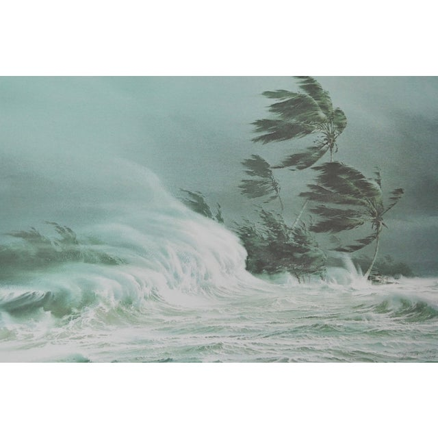 Mid-Century Modern Carl G. Evers Vintage Tropical Storm Print For Sale - Image 3 of 5