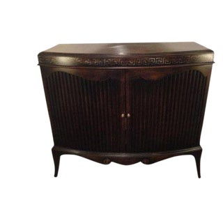 Bow Front Entry Cabinet For Sale