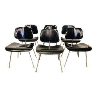 1960s Vintage Eames Dcm Chairs - Set of 6 For Sale