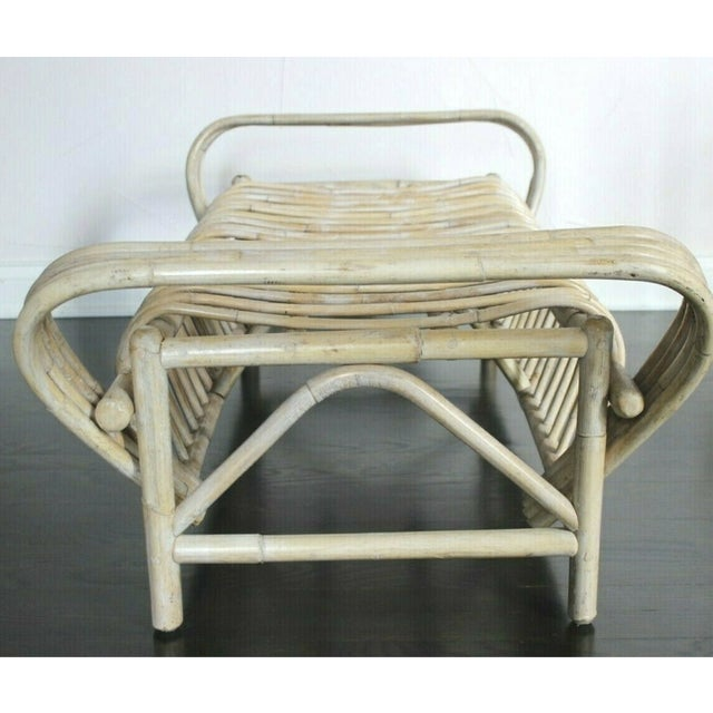 Vintage Mid Century Bamboo Bentwood Sculptural Bench For Sale In Columbus - Image 6 of 8