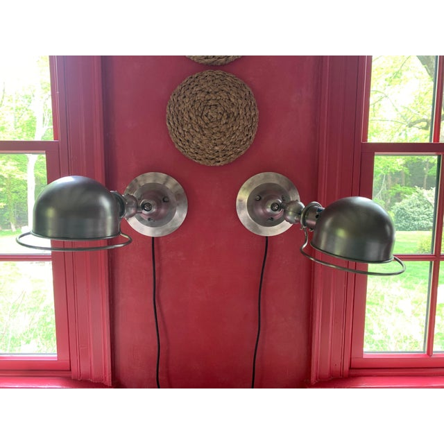 Silver Mid-Century Jielde Steel Sconces - a Pair For Sale - Image 8 of 8
