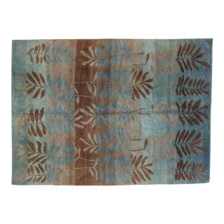 "Leon Banilivi Blue Nepalese Carpet - 8'1"" X 11'1"""