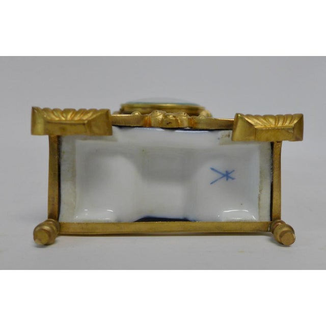 20th Century Belle Epoque Gilt Bronze Mounted Porcelain Clock For Sale In New York - Image 6 of 12