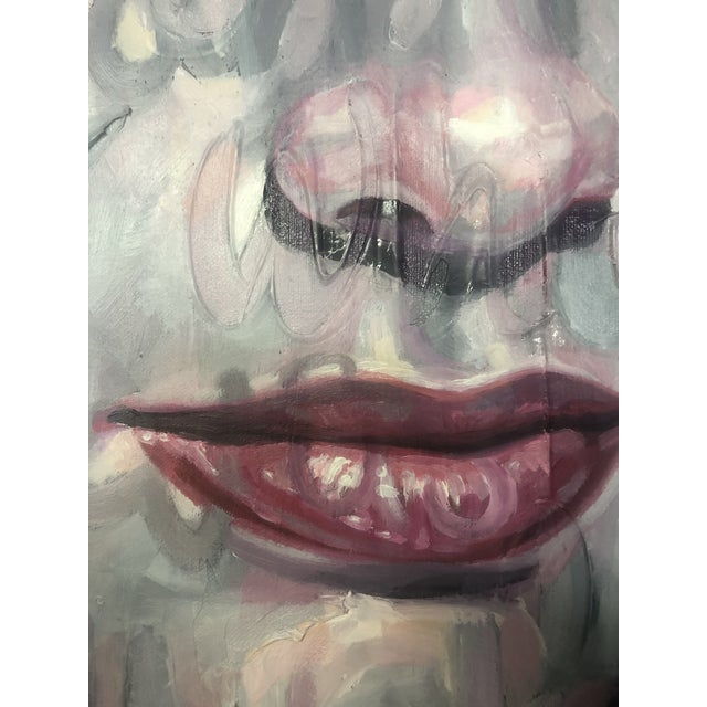 Abstract Expressionism Oil on Canvas by Christina Major For Sale - Image 3 of 5