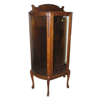Antique Tiger Oak Curio Cabinet Preview