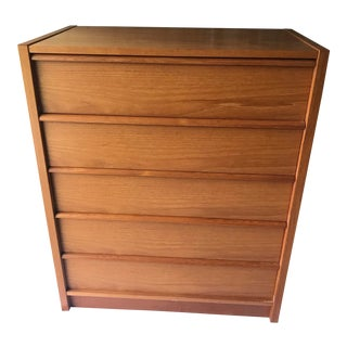 Danish Modern Teak Chest of Drawers For Sale