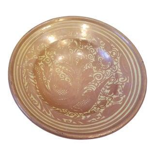 Vintage Hispano-Moresque Copper Luster Bowl For Sale