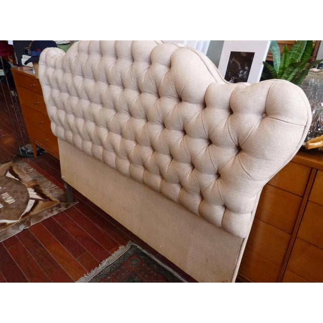 Vintage Tufted Full Size Hearboard - Image 3 of 8
