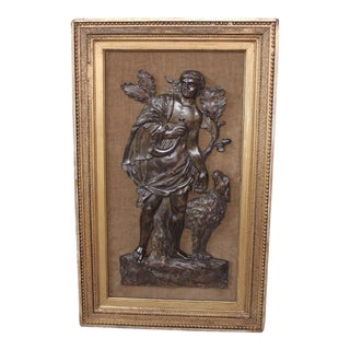 Antique Bronze Bas Relief For Sale