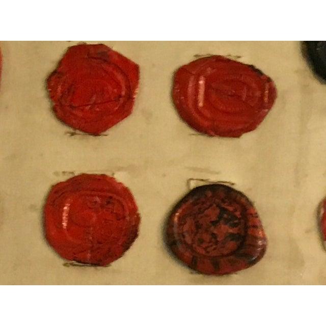 Antique English Multi Color Intaglio Wax Seals For Sale - Image 11 of 13