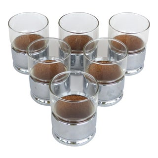 Midcentury Modern Tumbler Cocktail Glasses W/ Box- Set of 6 For Sale