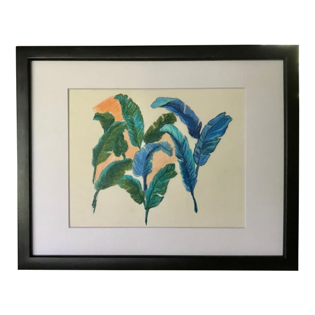 Vintage Original Pastel Drawing of Feathers Tropical Birds For Sale In New York - Image 6 of 6