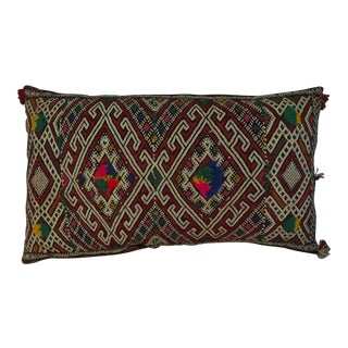 Bohemian Moroccan Kilim Pillow For Sale