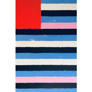 """2020 Donald Florence Abstract """"Red Up"""" Acrylic Painting For Sale"""