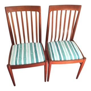 Vintage Mid Century Bramin Mobler Teak Dining Chairs- A Pair For Sale