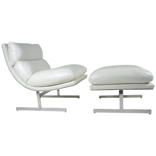 Modern Lounge Chair and Ottoman by Kipp Stewart for Directional, circa 1970 For Sale