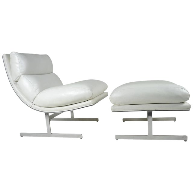 Modern Lounge Chair and Ottoman by Kipp Stewart for Directional, circa 1970 - Image 1 of 10