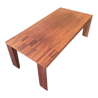 Modern Walnut Cocktail Table For Sale