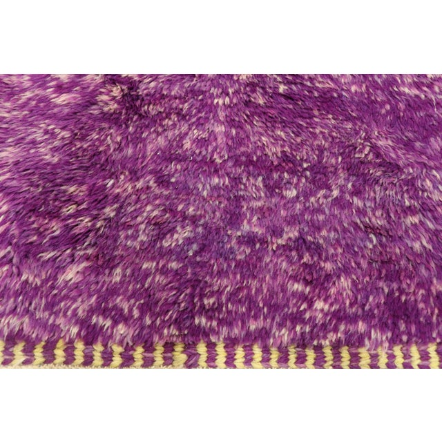 Berber Tribes of Morocco Purple Berber Contemporary Moroccan Rug - 06'10 X 10'00 For Sale - Image 4 of 10