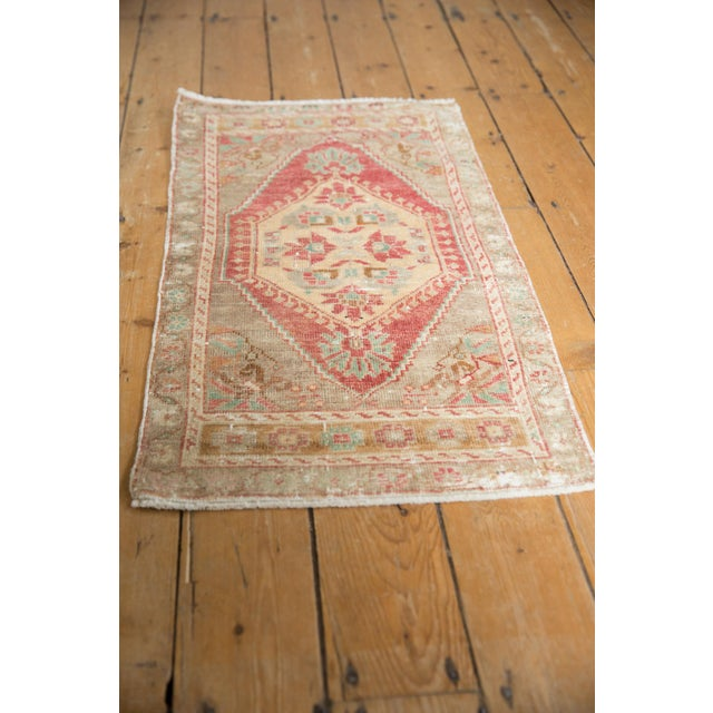 "Shabby Chic Vintage Distressed Oushak Rug Mat Runner - 1'9"" X 3'3"" For Sale - Image 3 of 6"