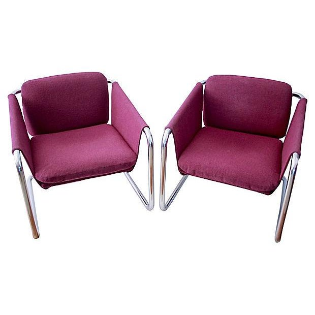 1980s Postmodern Cantilevered Chairs - A Pair - Image 6 of 10