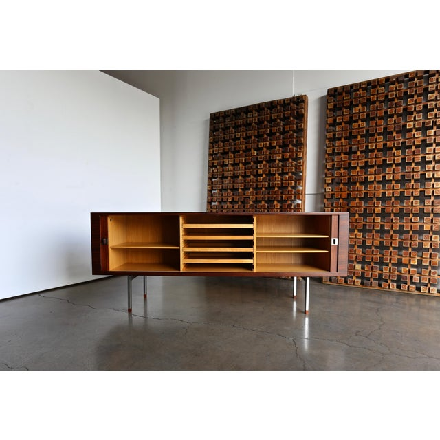 Ry Mobler Hans Wegner Rosewood 'President' Cabinet, 1965 For Sale - Image 4 of 13