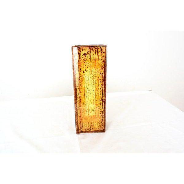 "Gold Enamel on Copper ""Del Campo Studio"" Italian Door Handles - a Pair For Sale - Image 8 of 10"
