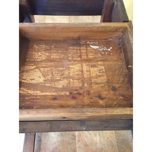 Antique Hand Hewn Mahogany Table For Sale - Image 10 of 12