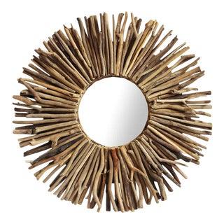 Driftwood Sunburst Mirror Frame For Sale