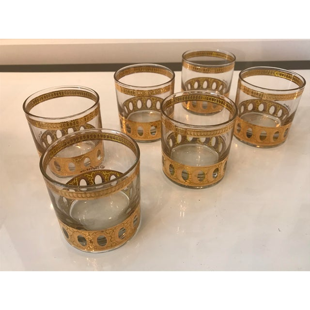 Mid-Century Modern Mid-Century Modern Culver Ltd Glass Ice Bucket/ Punch Bowl With Matching Glasses For Sale - Image 3 of 11