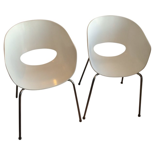 Designer Sintesi of Italy Retro Orbit Chairs - Pair For Sale