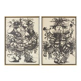 Image of Pair of Bjorn Wiinblad Lithographs of Musical Players For Sale