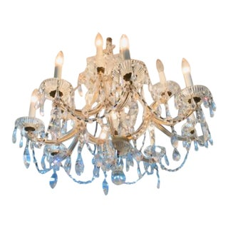 Marie-Therese Art Deco Crystal Chandelier - 1930s - Bohemian Glass For Sale