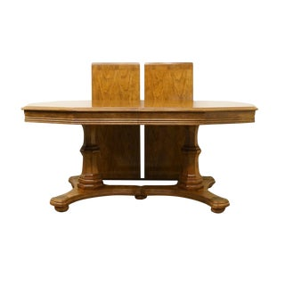 Late 20th Century Vintage Bernhardt / Hibriten French Country Style Dining Table For Sale