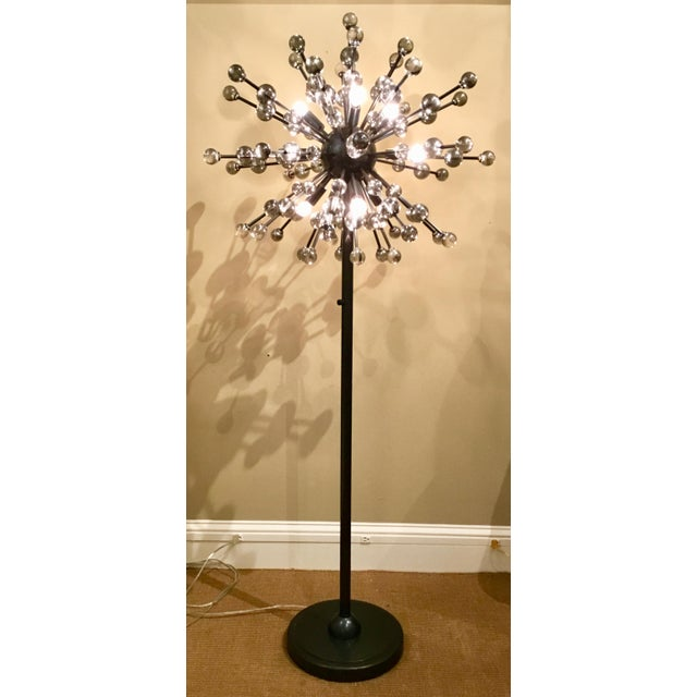 Stylish mid-century modern inspired sputnik constellation floor lamp by: Regina Andrew, bronze metal frame with glass ball...