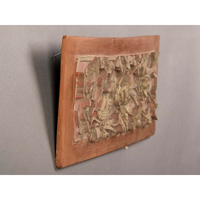 Late 19th Century Kuang Hsu Period Chinese Carved Painted & Gilded Rectangular Plaque For Sale In Houston - Image 6 of 6