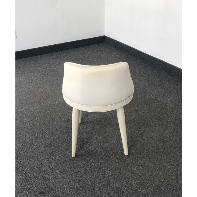 Mid 20th Century Vintage Mid Century Modern Tapered Legs Vanity Chair For Sale - Image 5 of 13
