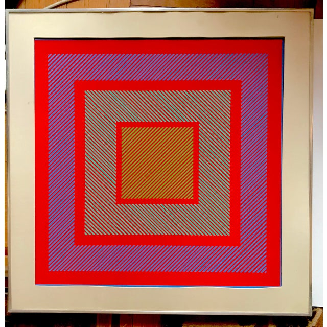 Contemporary Richard Anuszkiewicz Op Art Signed For Sale - Image 3 of 9