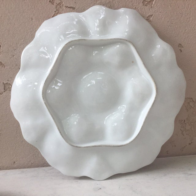 Limoges French Oyster Porcelain Sealife Plate For Sale In Austin - Image 6 of 11