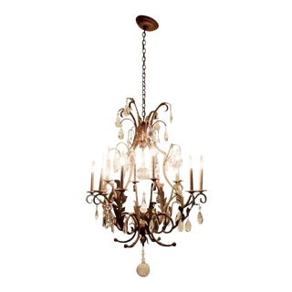 Contemporary 11 Arm Crystal Light Fixture Chandelier For Sale
